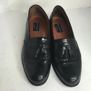 Bostonian Classic Mens Black Leather Tassel Loafer